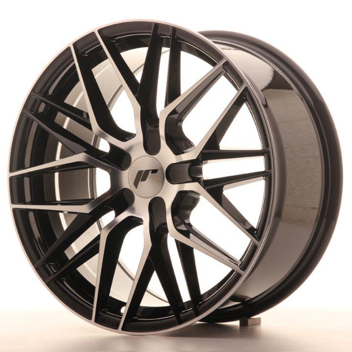 japan racing wheels jr 28 glossy black machined japan. Black Bedroom Furniture Sets. Home Design Ideas