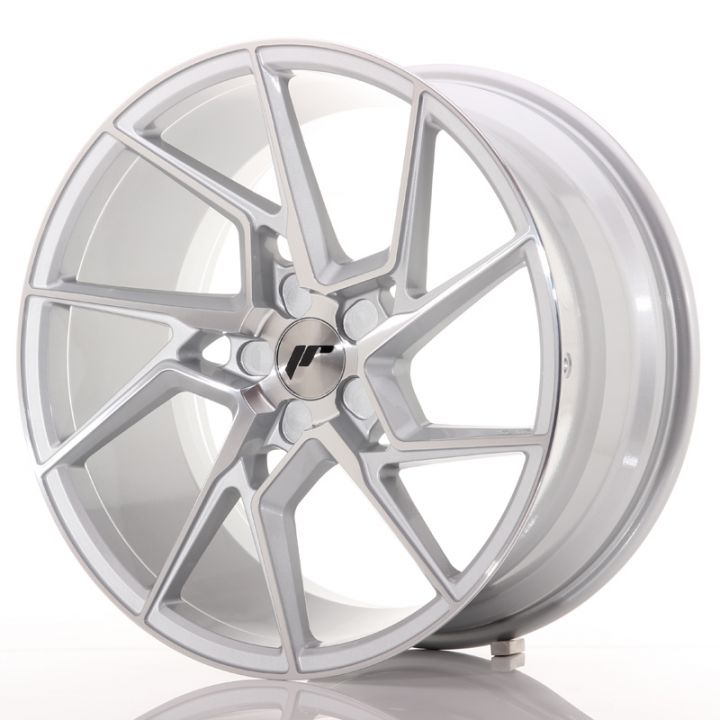 Japan Racing Wheels - JR-33 Silver Machined (19x9.5 inch)