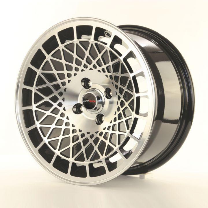 japan racing wheels jr 14 black machined 15 zol japan. Black Bedroom Furniture Sets. Home Design Ideas