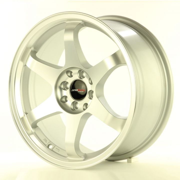 Japan Racing Wheels - JR-3 Matt Silver Machined (17x8 inch)