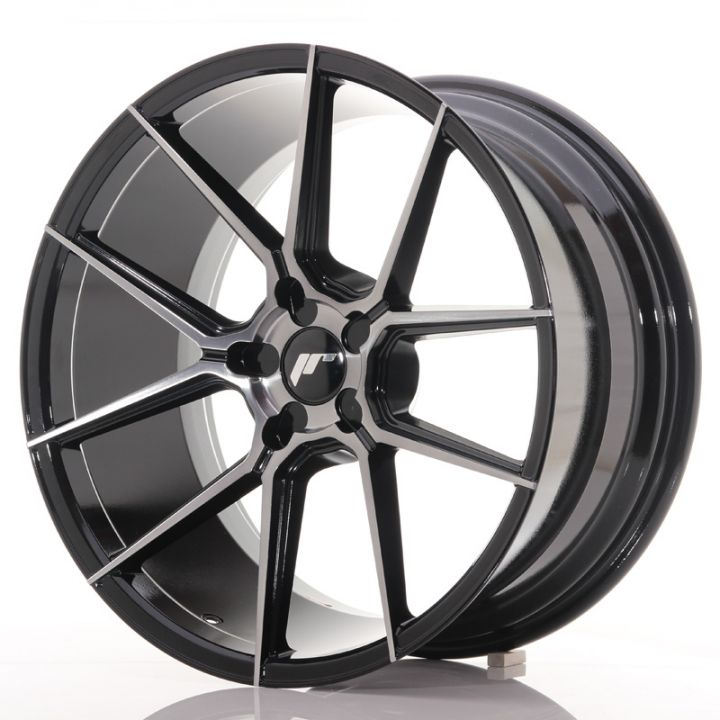Japan Racing Wheels - JR-30 Glossy Black Brushed Face (19x9.5 inch)