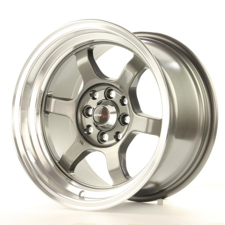Japan Racing Wheels - JR-12 Gun Metal Polished Lip (15x7.5 inch)