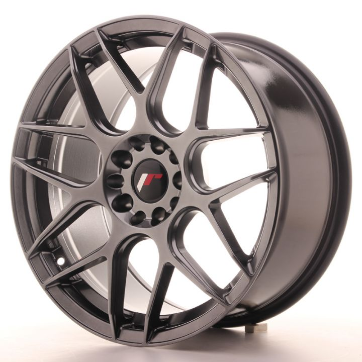 Japan Racing Wheels - JR-18 Hyper Black (18x8.5 inch)
