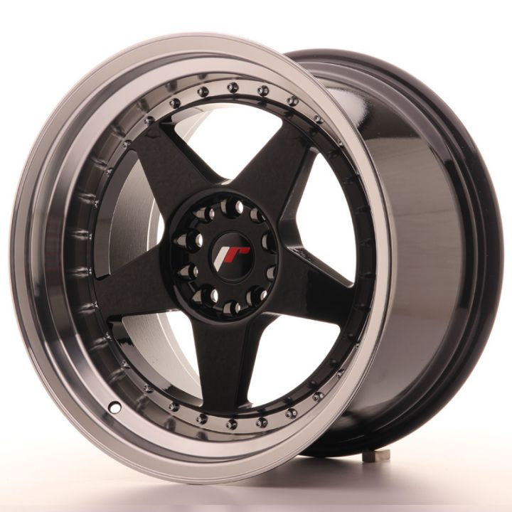 Japan Racing Wheels - JR-6 Glossy Black (18x10.5 inch)