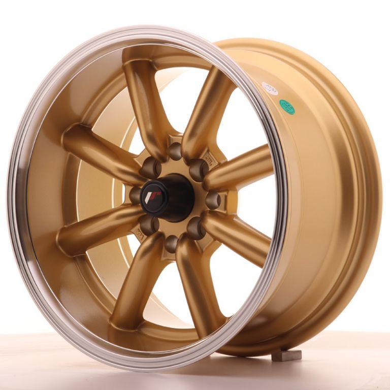japan racing wheels jr 19 gold 15x8 zoll japan. Black Bedroom Furniture Sets. Home Design Ideas