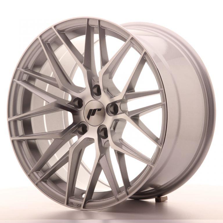 japan racing wheels jr 28 silver machined 18x9 japan. Black Bedroom Furniture Sets. Home Design Ideas