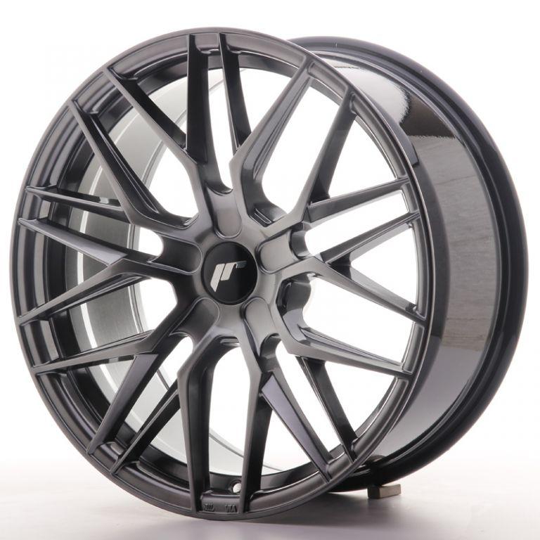 japan racing wheels jr 28 hiper black 19x8 5 zo japan. Black Bedroom Furniture Sets. Home Design Ideas