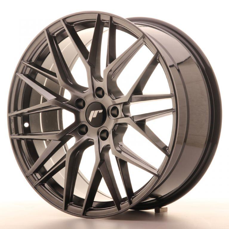 japan racing wheels jr 28 hiper black 20x8 5 zo japan. Black Bedroom Furniture Sets. Home Design Ideas