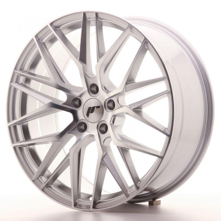 japan racing wheels jr 28 silver machined 20x8 japan. Black Bedroom Furniture Sets. Home Design Ideas
