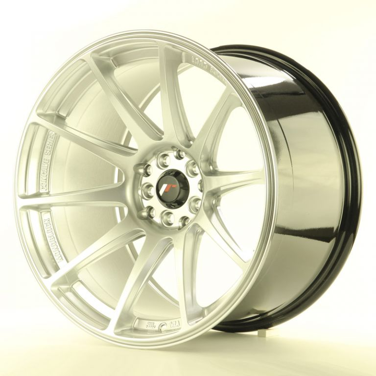 japan racing wheels jr 11 hyper silver 18 zoll japan. Black Bedroom Furniture Sets. Home Design Ideas