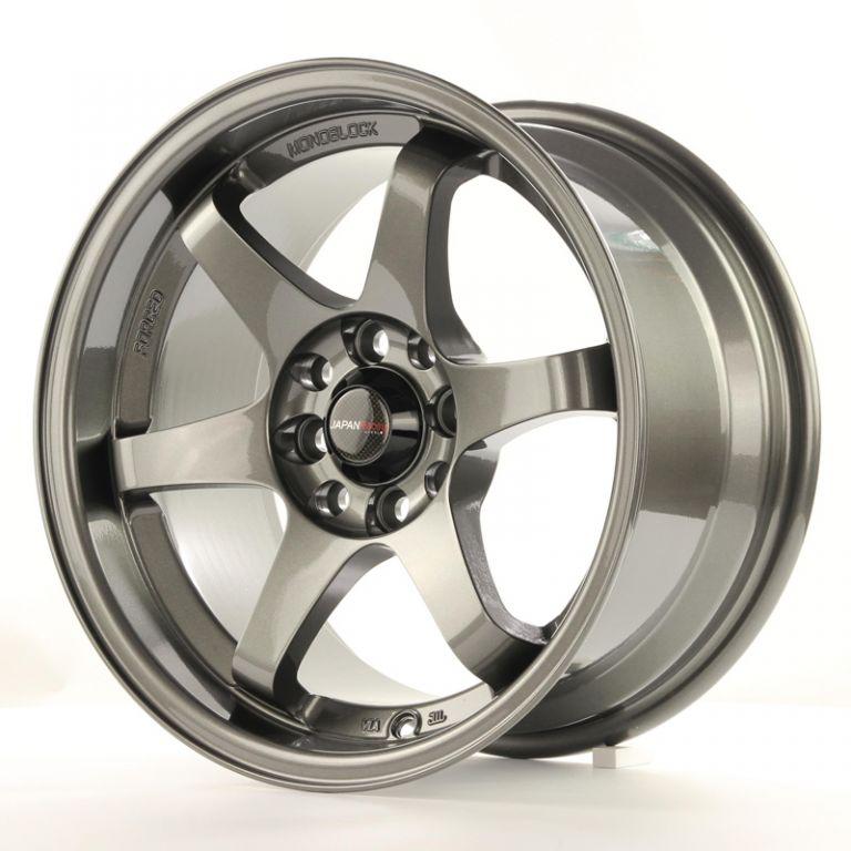 japan racing wheels jr 3 gun metal 15 zoll japan. Black Bedroom Furniture Sets. Home Design Ideas