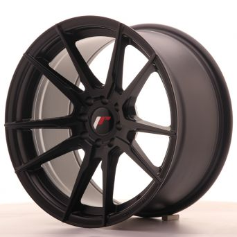 Season Sale - Japan Racing Wheels - JR-21 Matt Black (17x9 inch)