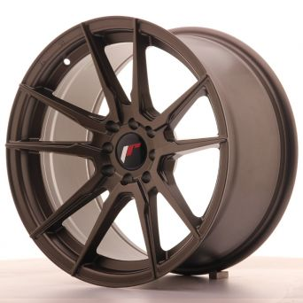 Season Sale - Japan Racing Wheels - JR-21 Matt Bronze (17x9 inch)