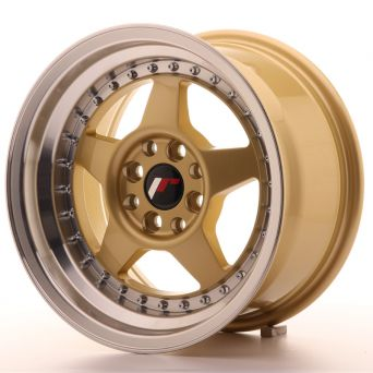 Japan Racing Wheels - JR-6 Gold Machined (15 inch)