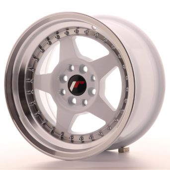 Japan Racing Wheels - JR-6 White Machined (15 inch)
