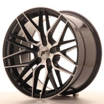 Japan Racing Wheels - JR-28 Glossy Black Machined (18x9.5 inch)