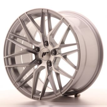Japan Racing Wheels - JR-28 Silver Machined (18x9.5 inch)