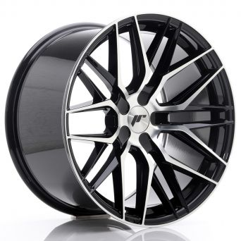 Japan Racing Wheels - JR-28 Glossy Black Machined (19x10.5 inch)