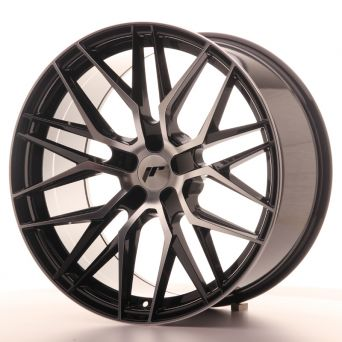 Japan Racing Wheels - JR-28 Glossy Black Machined (20x10 inch)