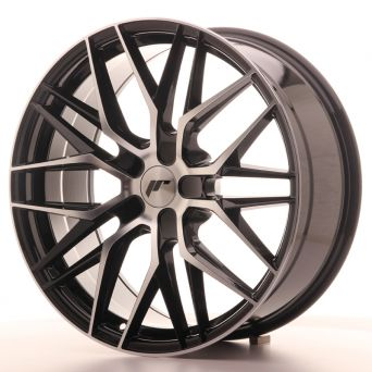 Japan Racing Wheels - JR-28 Glossy Black Machined (20x8.5 inch)