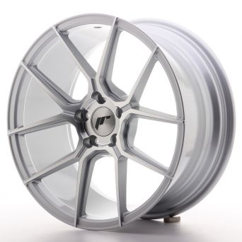 Japan Racing Wheels - JR-30 Silver Machined (18x8.5 inch)