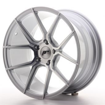 Japan Racing Wheels - JR-30 Silver Machined (18x9.5 inch)