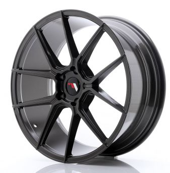 Japan Racing Wheels - JR-30 Hyper Black (20x8.5 inch)
