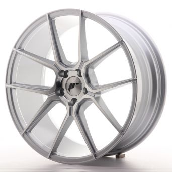 Japan Racing Wheels - JR-30 Silver Machined (20x8.5 inch)
