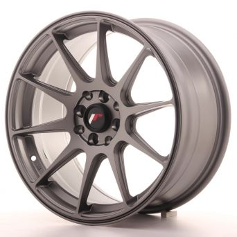 Japan Racing Wheels - JR-11 Matt Gun Metal (17x8.25 inch)