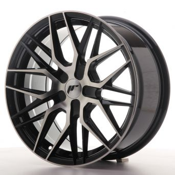 Japan Racing Wheels - JR-28 Black Machined (17x8 inch)