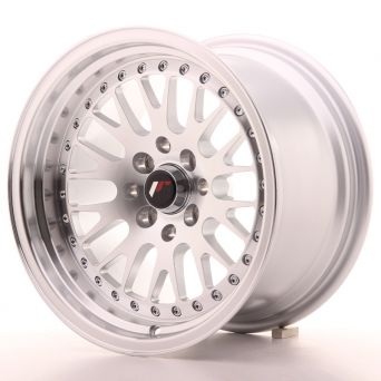 Season Sale - Japan Racing Wheels - JR-10 Machined Silver (15x9 inch)