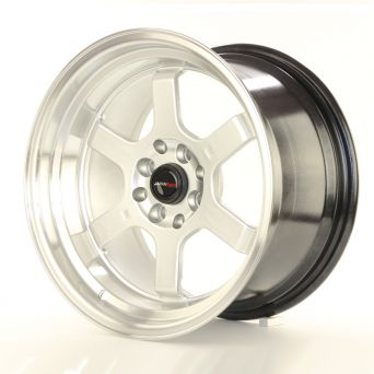 Season Sale - Japan Racing Wheels - JR-12 Hyper Silver Polished Lip (16x8 inch)