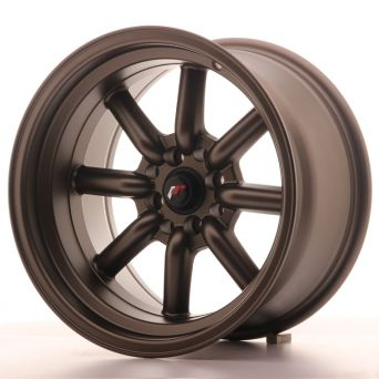 Season Sale - Japan Racing Wheels - JR-19 Matt Bronze (16x9 inch)