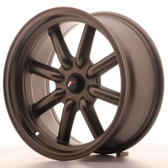 Season Sale - Japan Racing Wheels - JR-19 Matt Bronze (17x8 inch)