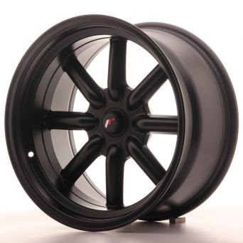 Season Sale - Japan Racing Wheels - JR-19 Matt Black (17x9 inch)