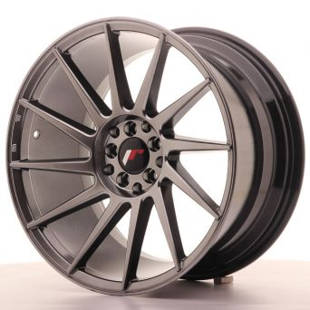 Season Sale - Japan Racing Wheels - JR-22 Hiper Black (18x9.5 inch)