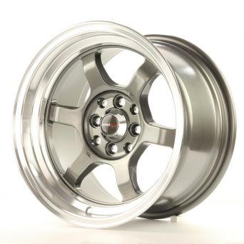 Japan Racing Wheels - JR-12 Gun Metal Polished Lip (15 inch)