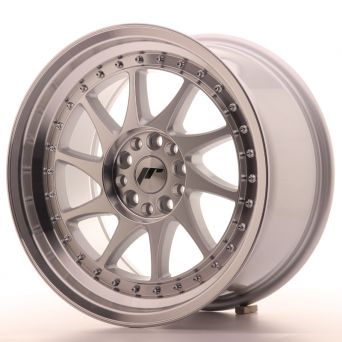 Season Sale - Japan Racing Wheels - JR-26 Machined Silver (17x9 inch)