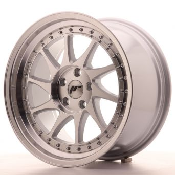 Season Sale - Japan Racing Wheels - JR-26 Silver Machined (18x9.5 inch)