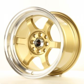 Japan Racing Wheels - JR-12 Gold Polished Lip (15 inch)