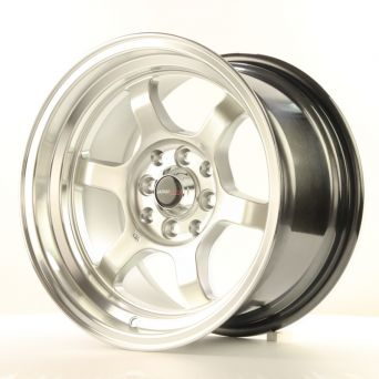 Japan Racing Wheels - JR-12 Hyper Silver Polished Lip (15 inch)