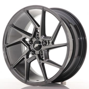 Japan Racing Wheels - JR-33 Hyper Black (19x8.5 inch)