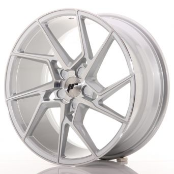 Japan Racing Wheels - JR-33 Silver Machined (19x8.5 inch)