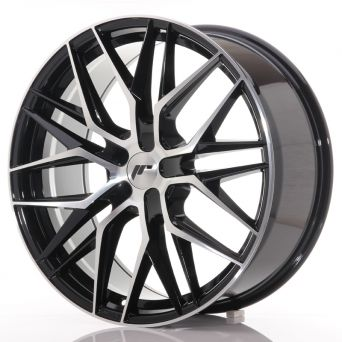 Japan Racing Wheels - JR-28 Glossy Black Machined (21x9 inch)
