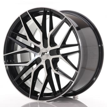 Japan Racing Wheels - JR-28 Glossy Black Machined (21x10.5 inch)