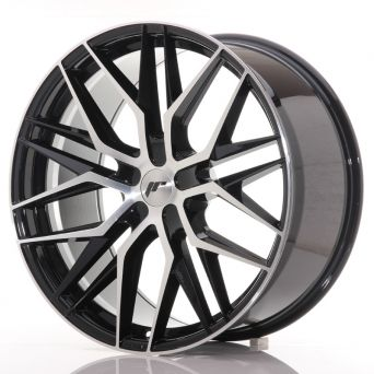 Japan Racing Wheels - JR-28 Glossy Black Machined (22x9 inch)