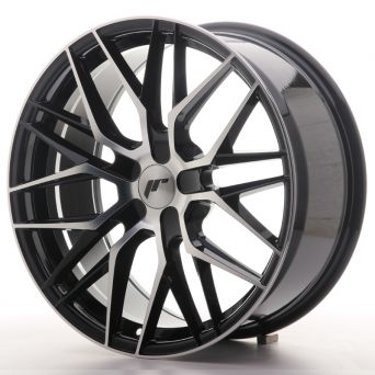 Japan Racing Wheels - JR-28 Glossy Black Machined (19x8.5 inch)