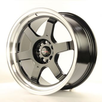 Japan Racing Wheels - JR-12 Glossy Black Polished Lip (18x9 inch)
