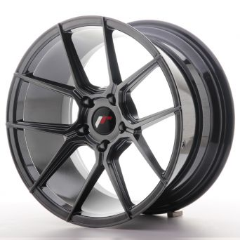 Japan Racing Wheels - JR-30 Hyper Black (18x9.5 inch)