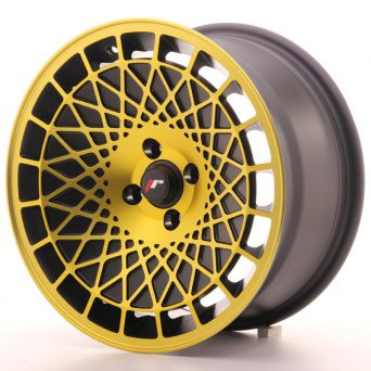 Japan Racing Wheels - JR-14 Black Gold Finish (16x8 inch)